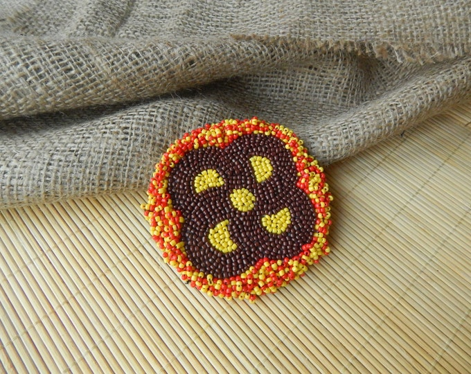 Indian mandala, sew on patch, bead patch, gul-i-peron, beaded medallion, tribal accessories, ethnic embroidered patch, indian beadwork