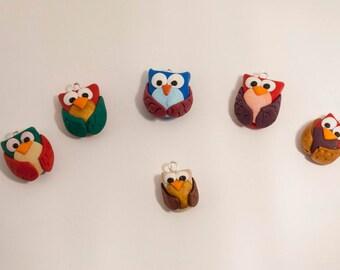 adjustable lanyard bracelets and pendants fimo colored owls