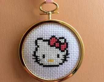 Handmade Hello Kitty Cross Stitch