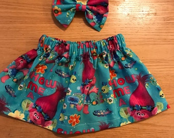 Trolls skirt set
