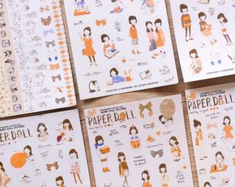 Cute stickers 'paper doll' | Cute Stationery