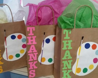 Paint Themed Goodie Bags