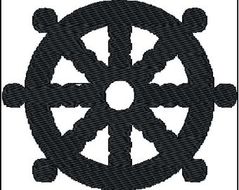 Dharma Wheel Buddhism Embroidery Design