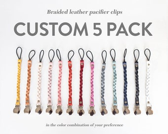 Custom Color Pack of 5 Passy Clips