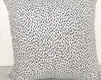 Deep Blue Raindrops Cushion Cover