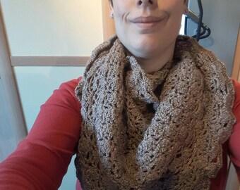 ♡SALE♡ Golden sparkle party shawl - wedding shawl - stole - crochet shawl - handmade shawl - hipster shawl