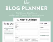 SALE! 50% OFF   Blog Planner, Printable planner, Blog Organizer, Blogging Planner, pdf, Letter sized, 77 pages, blogger planner printable