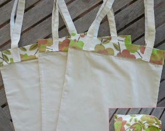 Reusable Shopping Bags, Set of Three Shopping Bags, Tote Bags, Eco Totes
