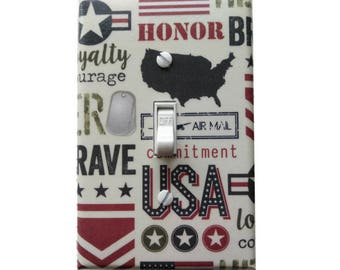 Patriotic Light Switch Cover | USA Light Switch Plate