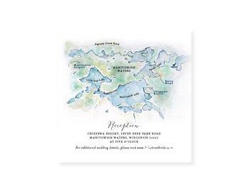 Manotiwish Waters Map