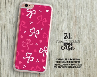 iPhone 7 Case pink bows iphone 6s Plus case cute iphone SE 5s case valentines girly iphone 6s case pretty iphone 7 plus case iphone 5 LU212