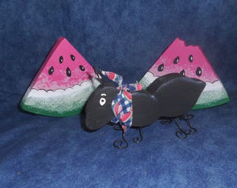 Country Ant and Watermelons wooden figurines
