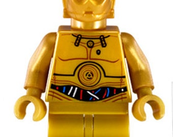 C-3PO STAR WARS Custom Minifigure 100% Lego Compatible!