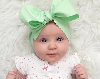 Mint Headwraps, Newborn Headwrap, Fabric Headwraps, Green Headwrap, Toddler Headwrap,  baby headwrap, baby headband