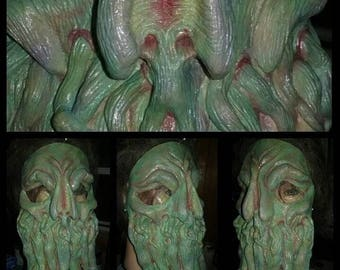 Great Old One Cthulhu latex half mask