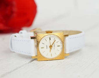 Zarja watch Soviet watch Vintage womens watch Wrist watch women Vintage Watch soviet Zarja gold watch Ladies watch Gift women USSR watch