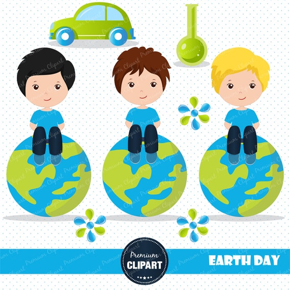 80% OFF SALE Earth day clipart Eco day Earth clipart