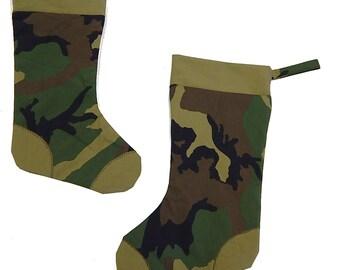 Military Camo Christmas Stockings