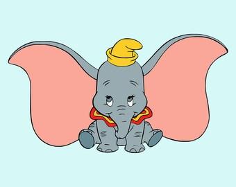 Dumbo SVG Clipart Printable Disney SVG Cut File Vector