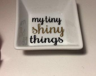 My tiny shiny things ring dish
