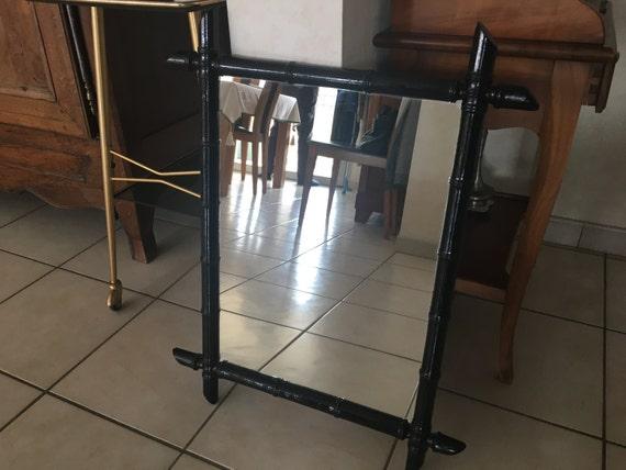 Miroir faux bambou for Faux bambou
