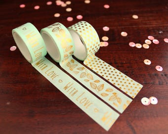 foiled washi tape - set of 3 rolls