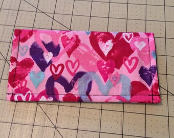 Happy Hearts checkbook cover