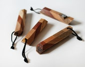 Geometric wood bottle opener, made in Canada, recycled wood, stocking stuffers for men, drink and barware, home and living