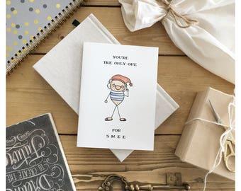 MR . SMEE // disney card, peter pan, love card, valentines day card, cute valentines day card, Peter Pan card, cute disney card, cute card