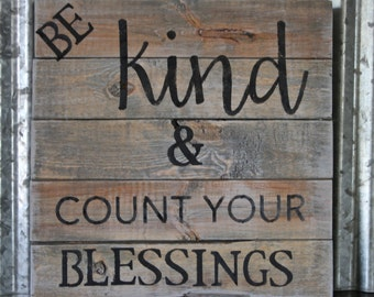 Reclaimed Wood Shabby Chic Sign