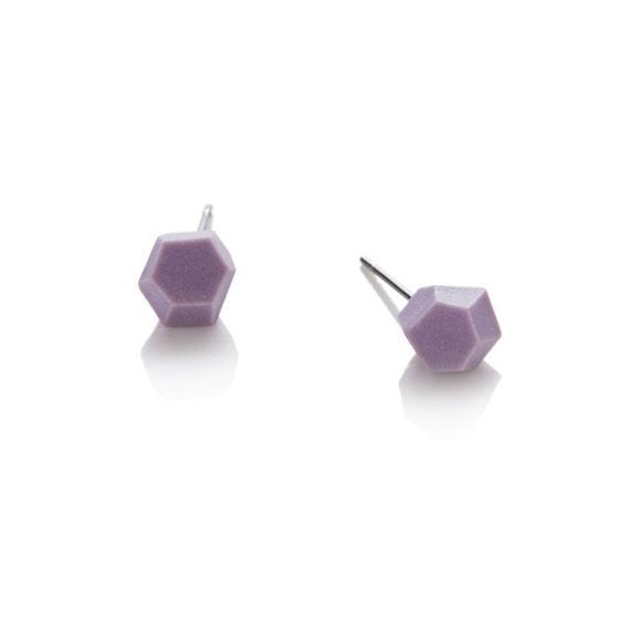 Studs geometric Porcelain Lilac