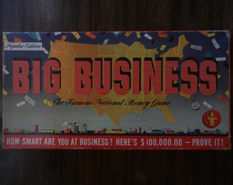 Big Business Board Game by Transogram ~ 1954