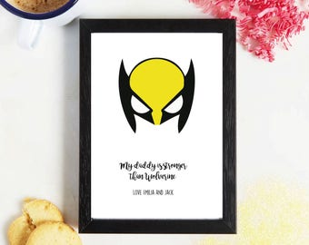 Fathers Day - Super Hero - Wolverine - Gift