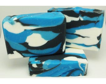 Blue Camo Coool Water Handcrafted Artisan Soap 204603