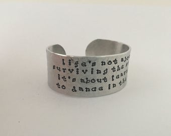 Inspirational Quote Bracelet/Hand Stamped Quote Jewelry/Women's Bracelets/Gifts for Her/Customized Jewelry