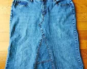 Womens Jean Skirt Sz 18