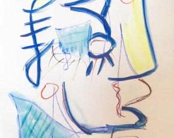 original 30x40 cm modern abstract acylic painting art drawing artwork