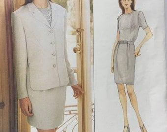 Vogue 1618 American Designer Anne Klein II Jacket Skirt Sewing Pattern Uncut