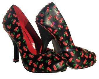 Sparkly High heels shoes-crystals Swarovski-Bling Shoes-Glitter Shoes-Crystal-crystal shoes-Evening shoes-swarovski shoes-Black Friday
