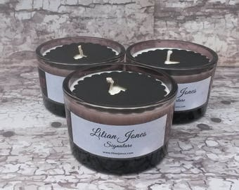 Candle Glass - Black Rose Soy Candle