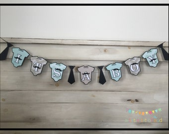 It's A Boy Banner, Baby Shower Decorations, Baby Boy Shower Decorations, Mustache Baby Shower Decorations, Gender Reveal Banner
