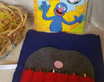 Coloring Book Holder, Crayon Tote, Crayon Roll, Crayon Organizer, Crayon Holder, Kids Travel Bag, Kids Christmas Gift, Crayon Bag, Birthday