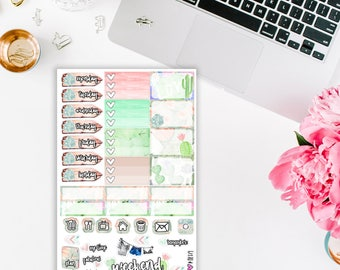 Cactus Addiction Planner Stickers Mini Kit
