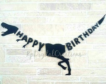 Dinosaur birthday banner, Dinosaur banner, Dinosaur party, Dinosaur birthday, Jurassic Park, Dinosaur decor, Jurassic park birthday