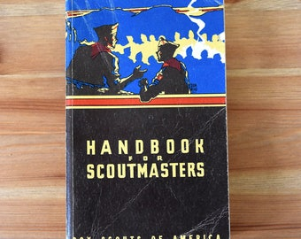 1954 Handbook for Scout Masters Boy Scouts of America Book Manual Camp Counselor Eagle Scout Collectible Guide