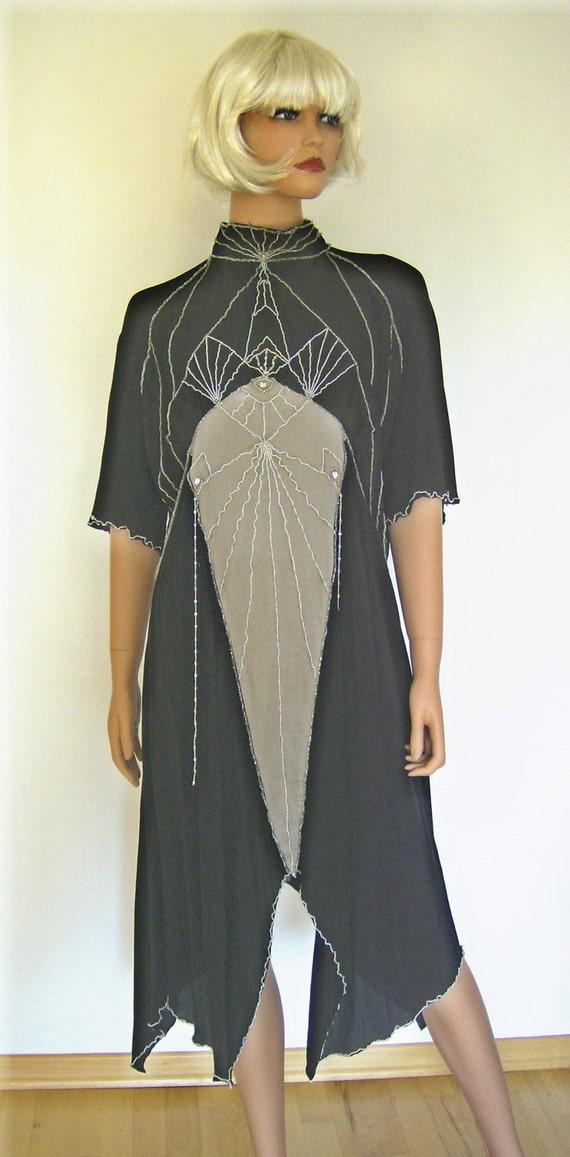 1930s Sewing Patterns- Dresses, Pants, Tops 1930s Art Deco Dress Norma - PDF Sewing Pattern Size US8/UK12/DE38 $13.41 AT vintagedancer.com