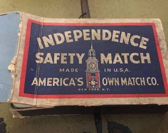Vintage Independence Safety Match Playing Cards Advertising Deck of Cards