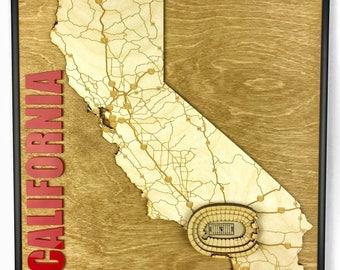 Stadium State Shape - California, Los Angeles (Los Angeles Memorial Coliseum - USC)
