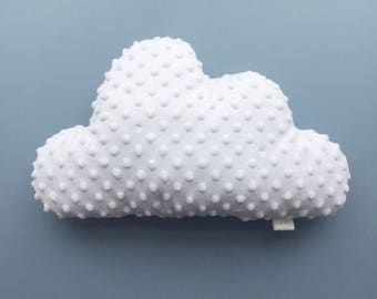 Cloud cushion in soft white minki fabric and cotton back perfect for kids room or baby nursery decoration