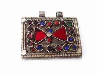 Kuchi Rectangle.  Pendant, Vintage. Tribal, Ethnic, Gypsy